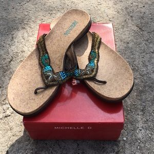 Beaded sandals by Kenneth Cole